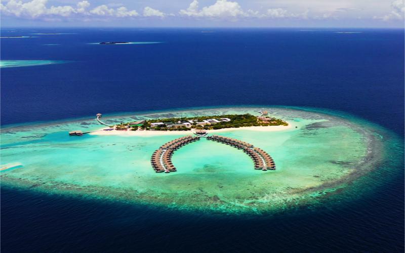 Kuredhivaru Maldives aerial view