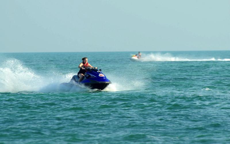 Jet skis at Kudadoo Maldives Resort