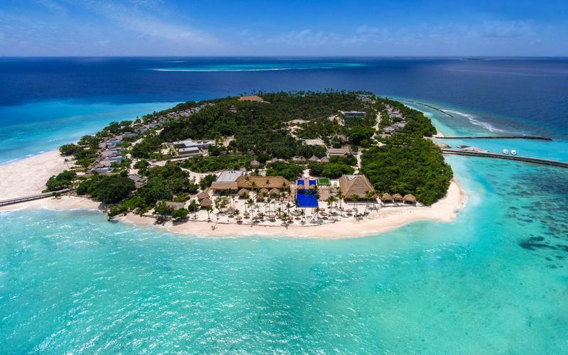 Emerald Island Resort Maldives aerial view