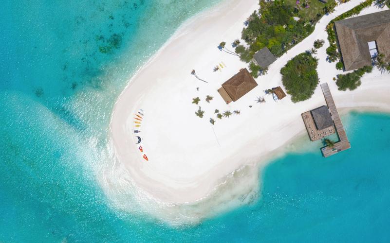 Innahura Island Resort aerial view