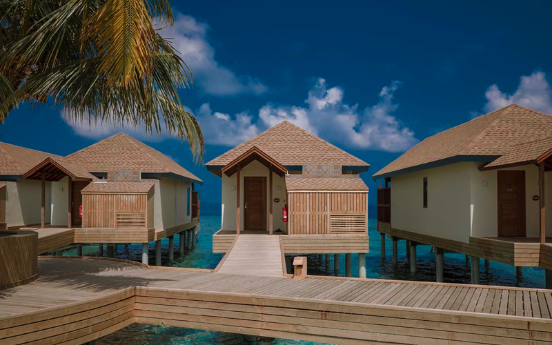 Water villas at Reethi Faru, Maldives