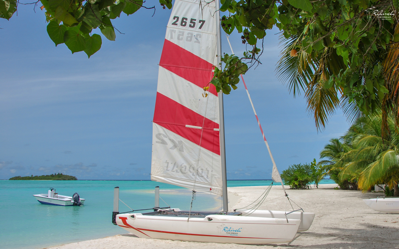catamaran at Rihiveli the Dream, Maldives