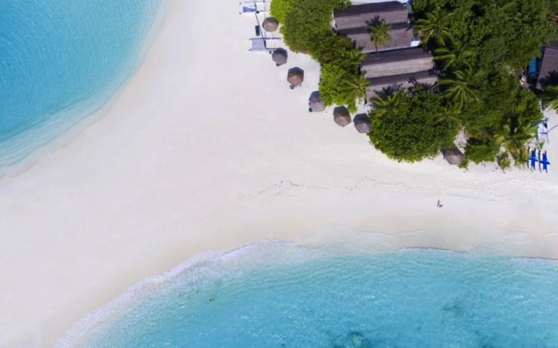 Reethi Beach Resort Aerial voew