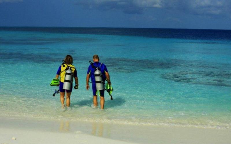 Diving at Reethi