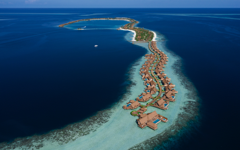water villas at AatoriaWaldorf , Maldives