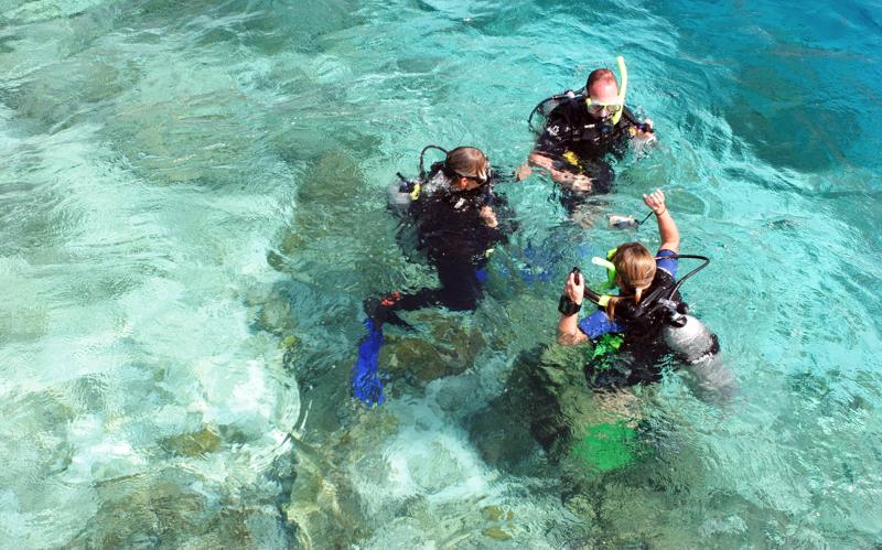 Diving at Angaga Island Resort, Maldives