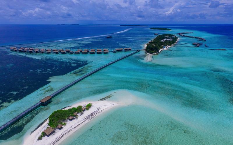 The Residence Falhumaafushi aerial view