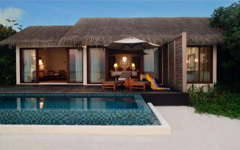 The Residence Falhumaafushi beach villa with pool
