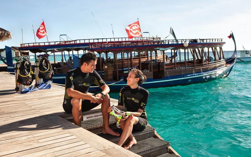 Diving Preparation, Maldives