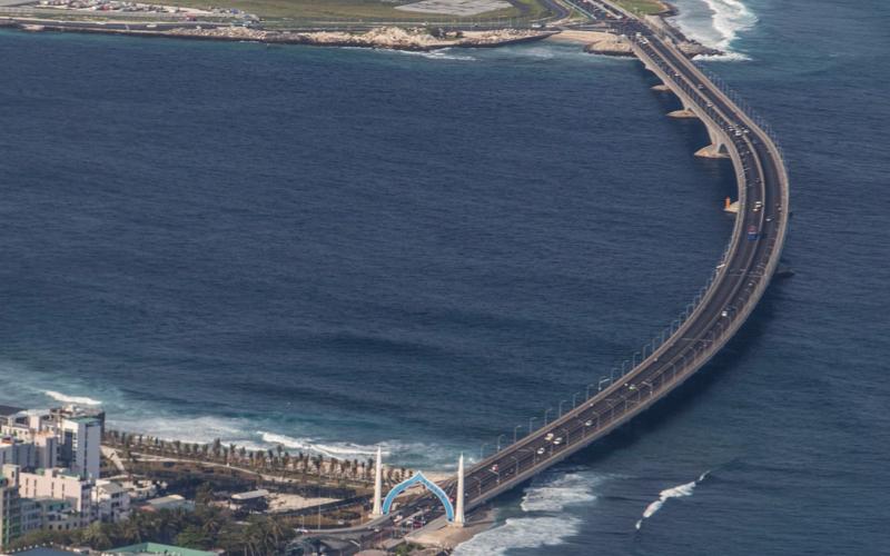 Aerial view of Sinamale Bridge