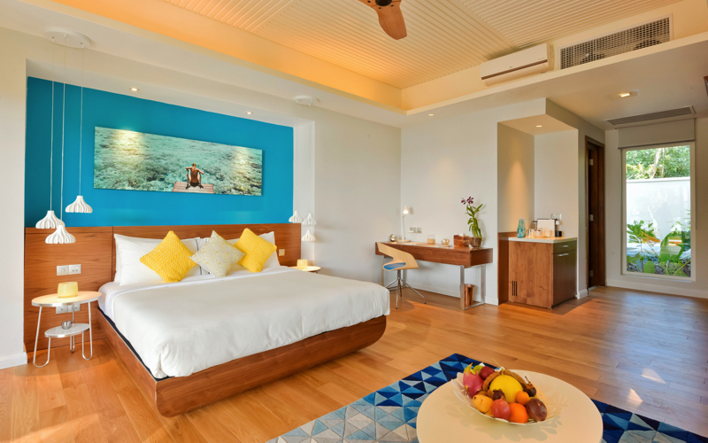 Beach villa at Kandima Island Resort Maldives