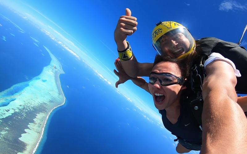 Tandem Jump over islands, Maldives