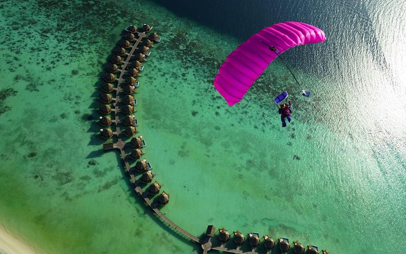 skydiving, Maldives.