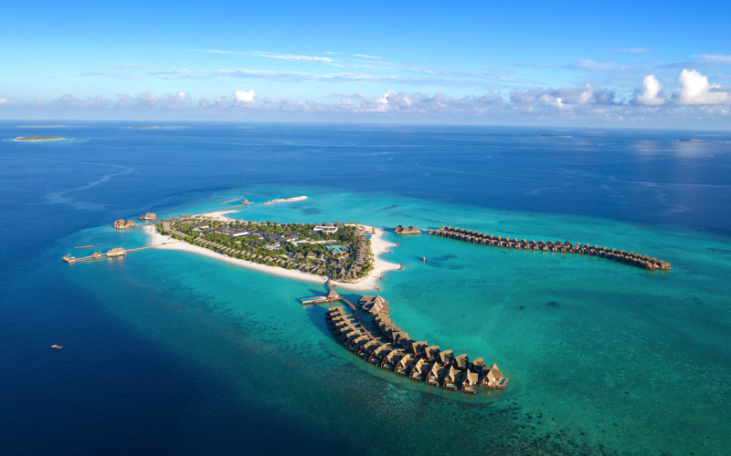 Aerial view of Heritance Aarah Maldives