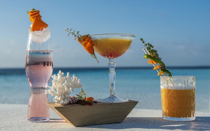 Cocktails at Heritance Aarah Maldives