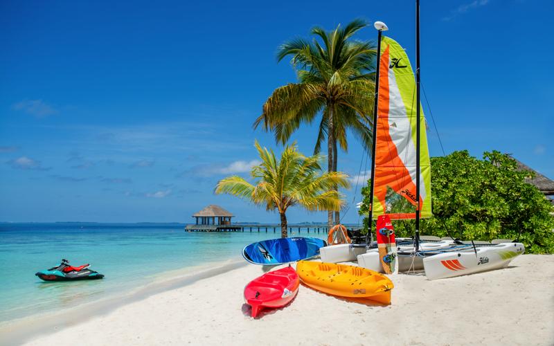 watersports at Kudafushi Island Resort, Maldives