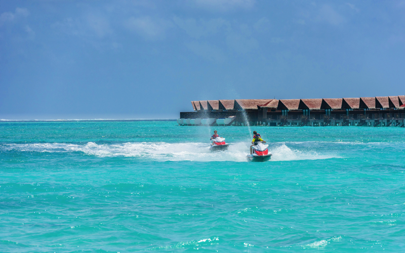 Jet Skiing in Maldives