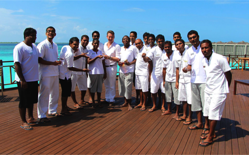 Butlers in the Maldives
