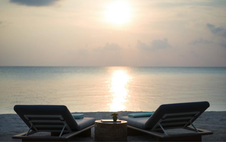 sunset at Intercontinental Maamunagau, Maldives