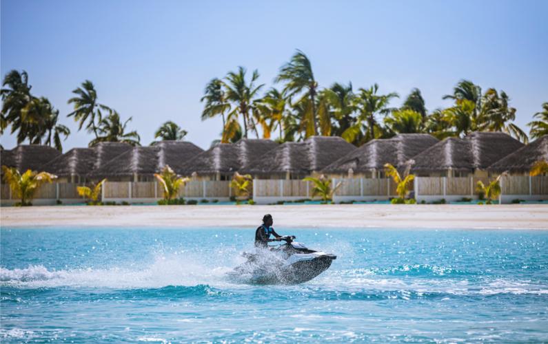 jet skiing at Sun Siyam Iru Veli Resort