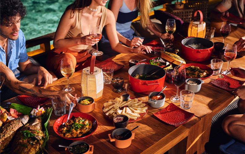 Guduguda restaurant Huruvalhi Maldives