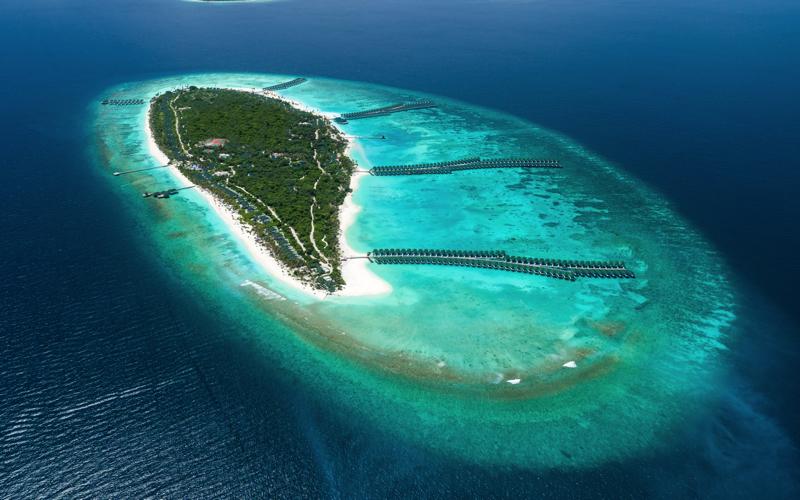 Sun Siyam World aerial view